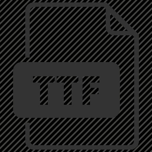 file, file format, font, truetype, ttf icon