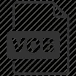 file format, media, video, vob icon