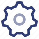 cog, dms, document, gear, management, settings, system icon