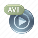 audio, avi, media, music, play, sound icon