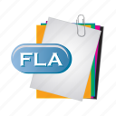 fla, folder, paper, document, file, format