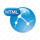 document, file, format, html, language icon
