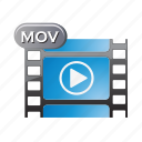 document, file, film, format, media, movie, video icon