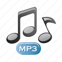 audio, media, mp3, music, note, player icon