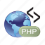 document, extension, file, folder, format, php icon