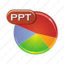 data, document, file, format, ppt icon