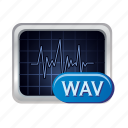 audio, media, music, sound, volume, wav icon