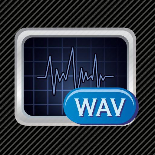 audio, media, music, sound, volume, wav icon