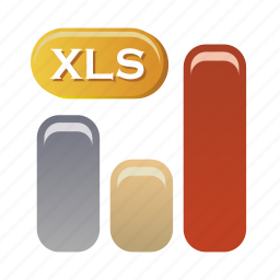 data, document, file, folder, format, xls icon