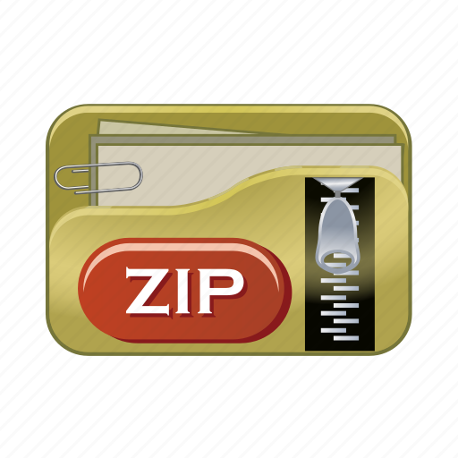 data, document, file, format, type, zip icon
