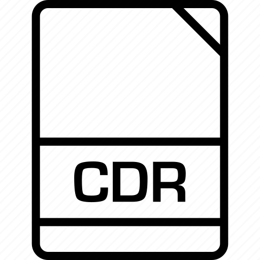 cdr, document, file, name icon