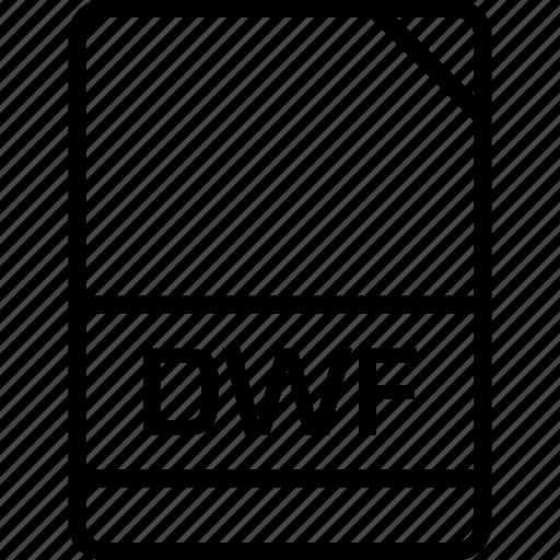 document, dwf, file, name icon