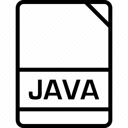 document, file, java, name icon