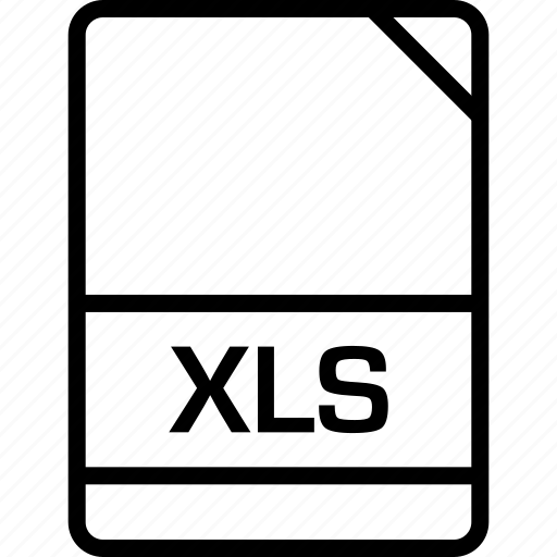 document, file, name, xls icon