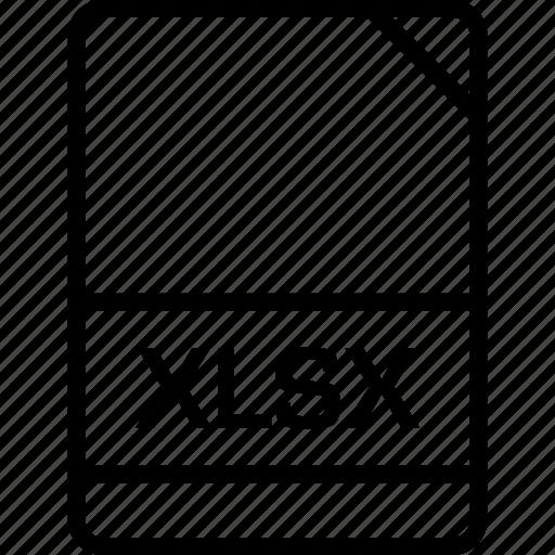 document, file, name, xlsx icon
