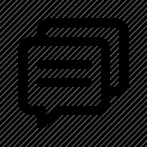 Bubble, chat, comment, conversation, dialogue, speech, talk icon - Download on Iconfinder