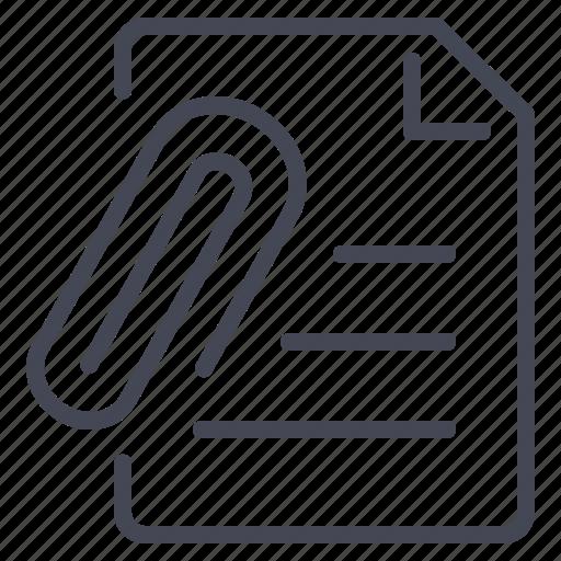 attachment, document, file icon