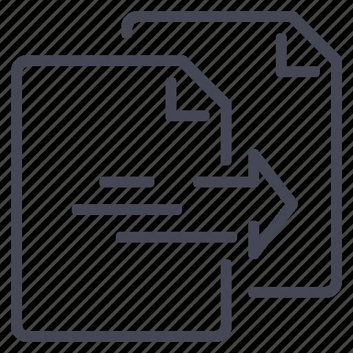copy, data, document, paste icon