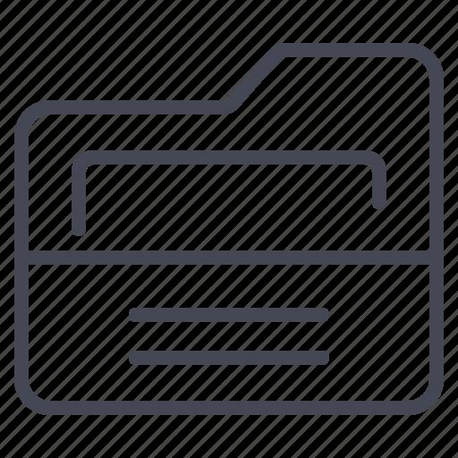 document, folder, storage icon