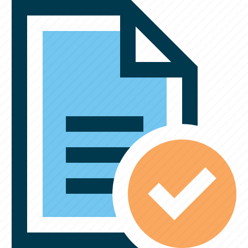 accept, check, document, file, page icon