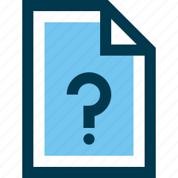 document, faq, file, question icon