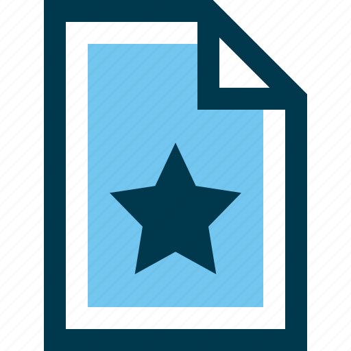 best, document, favorite, file, star icon