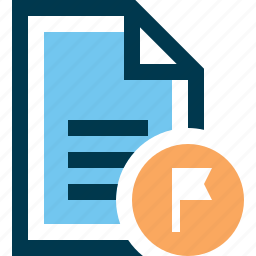 document, file, flag, selected, tag icon