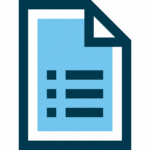 document, file, list icon