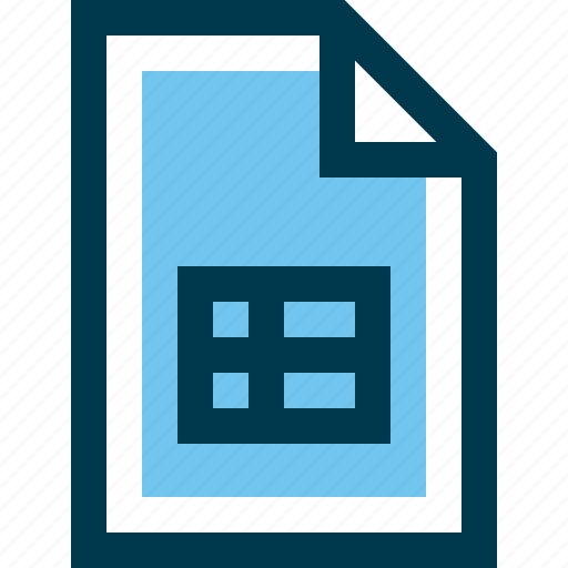 document, excel, file, sheet, tab icon