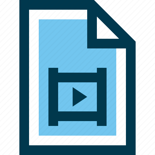 document, file, film, media, movie, multimedia, video icon