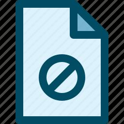 block, document, file, lock icon