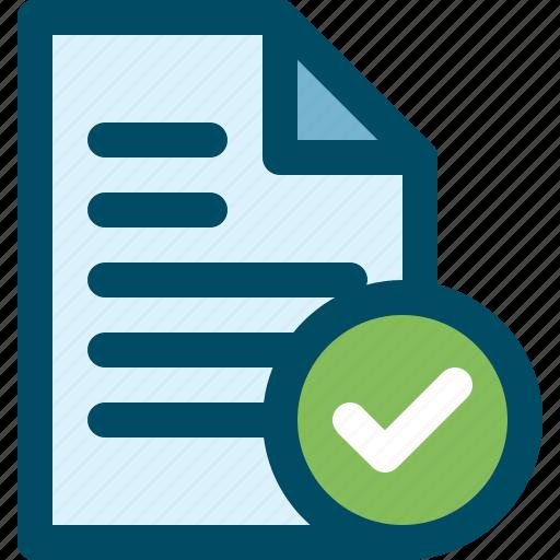 accept, check, document, file icon