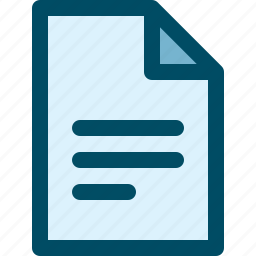 document, file, paper, text icon
