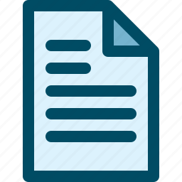 document, file, paper, sheet, text icon