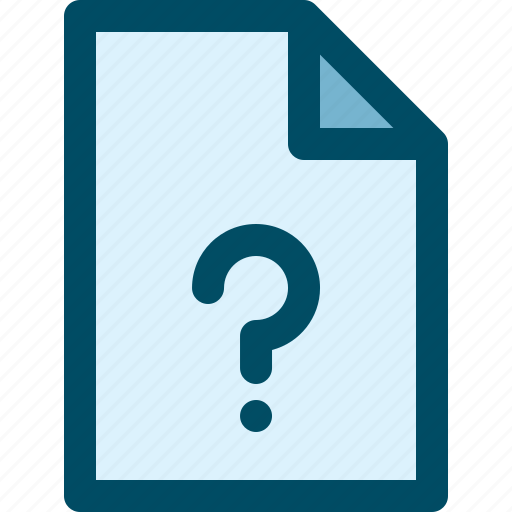 document, faq, file, guestion icon