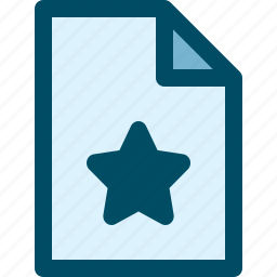 document, favorite, file, star icon