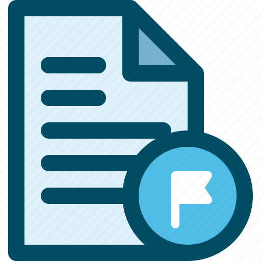 document, file, flag, tag, tagget icon