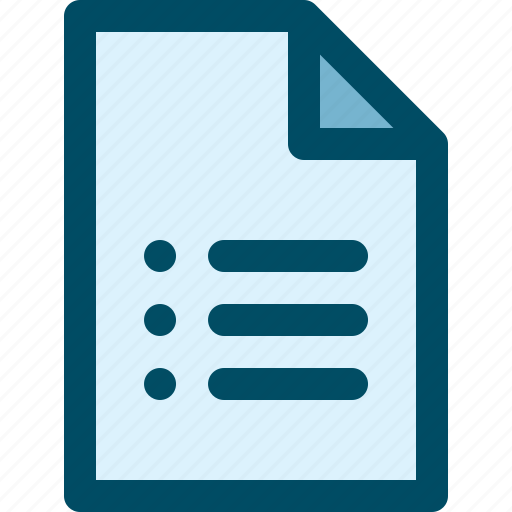 document, file, list, sheet icon