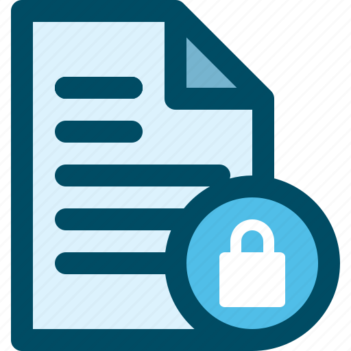 block, document, file, lock, security icon