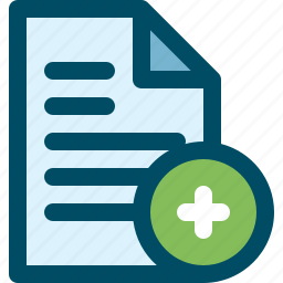 add, document, file, plus icon