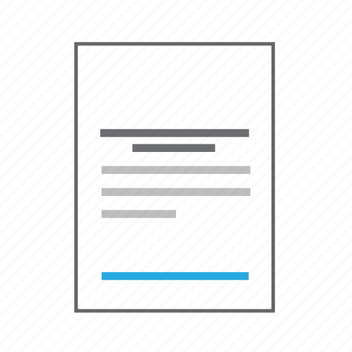 content, copyright, document, information, letter, page, sheet icon