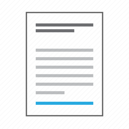 content, copyright, document, information, page, sheet, text icon