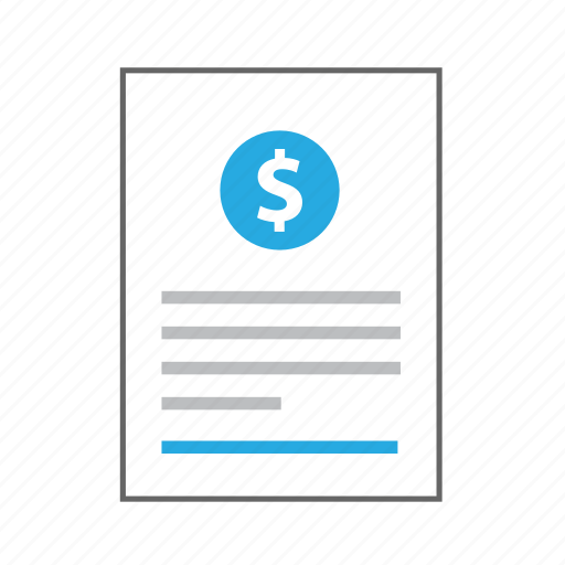 content, copyright, document, dollar, information, page, sheet icon