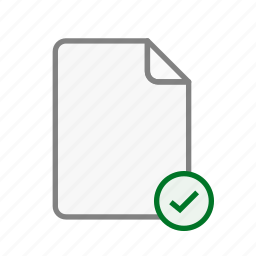 accept, blanck, document, file, office, page, sheet icon