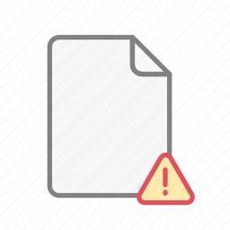 alert, blanck, document, file, office, page, problem icon