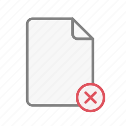 blanck, close, document, file, office, page, remove icon