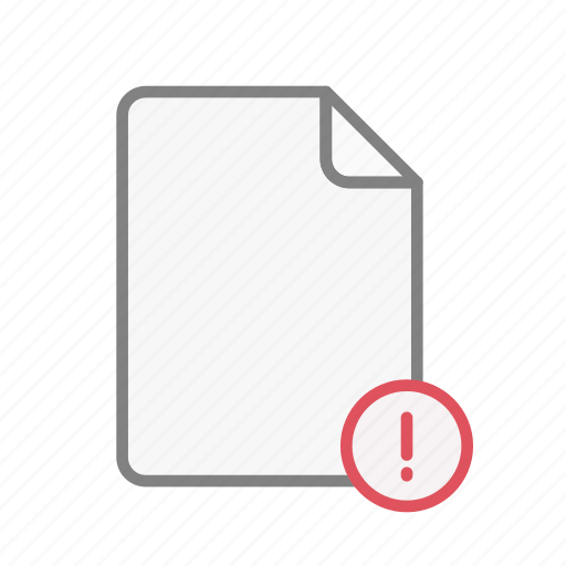 blanck, document, exclamation, file, office, page, sheet icon