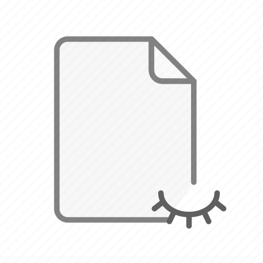 blanck, document, file, hidden, office, page, sheet icon