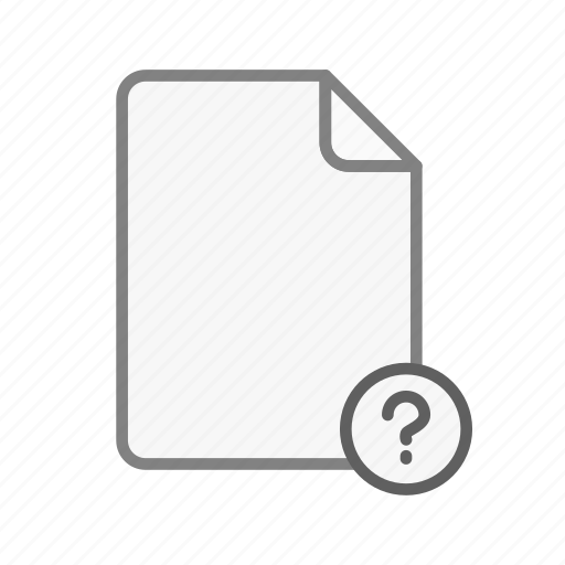 blanck, document, file, office, page, question, text icon