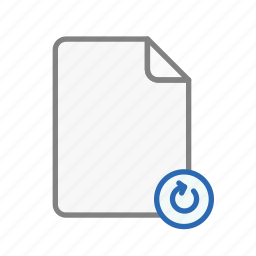 blanck, document, file, office, page, refresh, sheet icon